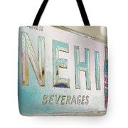 Nehi Ice Cold Beverages Sign Tote Bag