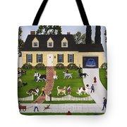 Neighborhood Dog Show Tote Bag