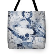 Neil Diamond Portrait Tote Bag by Aged Pixel