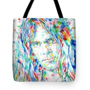 Neil Young - Watercolor Portrait Tote Bag