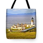 Neist Point Lighthouse Isle Of Skye Tote Bag