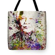 Nelson Mandela In Color Tote Bag