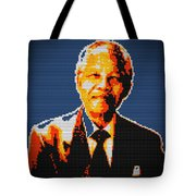 Nelson Mandela Lego Pop Art Tote Bag