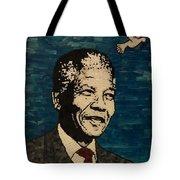 Nelson Mandela Man Of Peace Tote Bag
