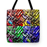 Neo Pop Art Urbanscape New York Sky View Tote Bag