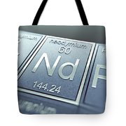Neodymium Chemical Element Tote Bag