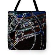Neon 1957 Chevy Dash Tote Bag by Steve McKinzie