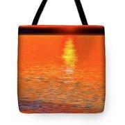 Neon Beach Sunset Tote Bag