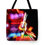 Neon Burst In Downtown Nashville Tote Bag by Dan Sproul