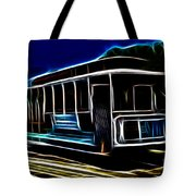 Neon Cable Car Tote Bag