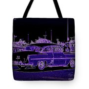 Neon Chevy Blues Tote Bag