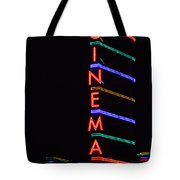 Neon Cinema Tote Bag