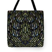 Neon Curves Tote Bag