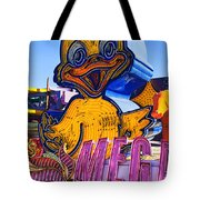 Neon Duck Tote Bag by Garry Gay