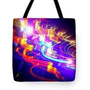 Neon Explosion Tote Bag