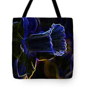 Neon Flowers Tote Bag by Charles Dobbs
