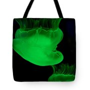 Neon Jellyfish Tote Bag