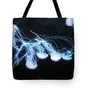 Neon Lights Of The Ocean Tote Bag