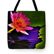 Neon Lily Tote Bag