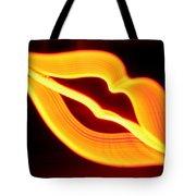 Neon Lips Tote Bag