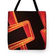 Neon Maze Tote Bag