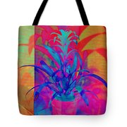 Neon Pineapple Plant - Vertical Tote Bag