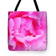 Neon Pink Peony Tote Bag