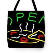 Neon Pizza Tote Bag