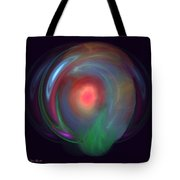 Neon Plasma Globe Tote Bag
