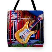 Neon Rock N Roll Tote Bag