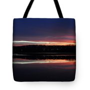 Neon Sunset Tote Bag