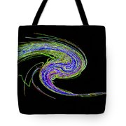 Neon Twirl Tote Bag