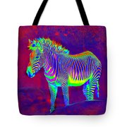 Neon Zebra Tote Bag