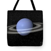 Neptune And Its Rings Against A Starry Tote Bag by Elena Duvernay