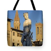 Neptune Statue - Florence Tote Bag