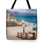 Nerja Beach In Spain Tote Bag