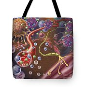 Nerve With Myelin Sheath, Seen In Lower Tote Bag