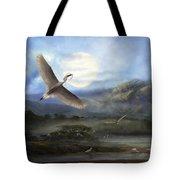 Nesting Egrets Tote Bag