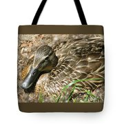 Nesting Mallard Tote Bag
