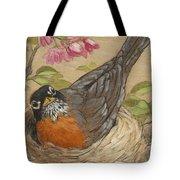 Nesting Robin Tote Bag