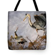 Nesting Time Tote Bag by Debra and Dave Vanderlaan