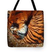 Nestled Tiger Tote Bag