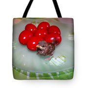 Nestling And Red Eggs Tote Bag
