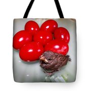 Nestling In A Plate Tote Bag