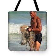 Net Fisherman In Tulum Tote Bag