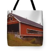 Netcher Road Covered Bridge Tote Bag