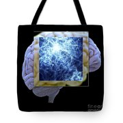 Neuron And Brain Tote Bag
