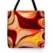 Neutral Swirls Fractured Tote Bag