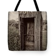 Nevada City Ghost Town Outhouse - Montana Tote Bag