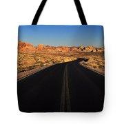 Nevada. Desert Road Tote Bag